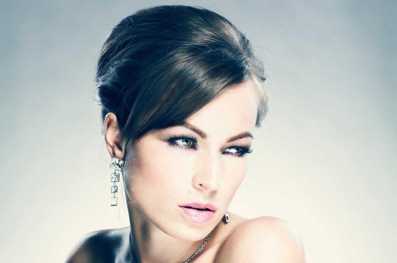 coiffure chignon glamour