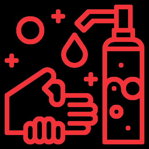 se laver et se désinfecterles mains avec le gel hydroalcoolique mis à disposition