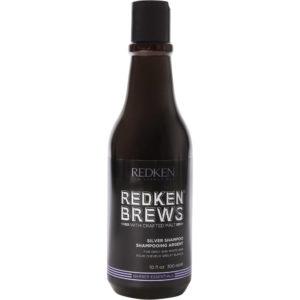 Redken Brews Haircare-Shampoing Silver Shampoing déjaunisseur cheveux gris ou blancs